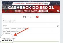 Betclic kod promocyjny KOD550. Jak zdobyć na start największy cashback w Polsce?